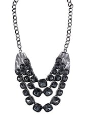 Black Metal Alloy Necklace - By