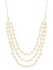 Sterling silver and fresh water pearl necklace -  online shopping for Necklaces