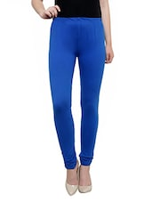 Light Ink Blue Cotton, Lycra Legging - By