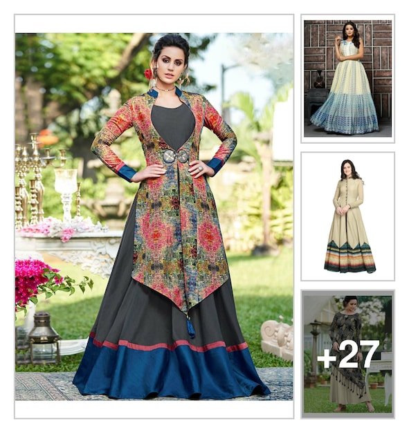 6f7f7b0b94 Layered Gowns - Buy Layered Gowns for Women Online in India | Limeroad.com