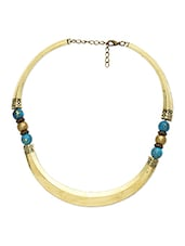 Antique Gold,turquoise Metal Alloy,beads Necklace - By