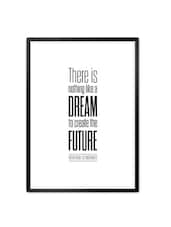 Victor Marie Hugo The Future Typography Quotes Framed Poster - Lab No. 4 - The Quotography Department