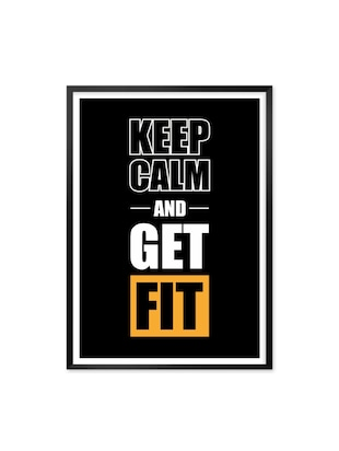 Keep Calm and Get Fit Quotes Framed Poster