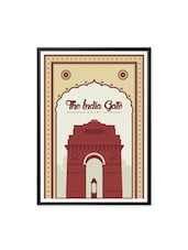 The India Gate ,Office Wall Decor Typography Framed Poster - Lab No. 4 - The Quotography Department