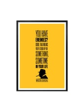 Good Winston Churchill Inspirational Art Framed Quotes Poster - Lab No. 4 - The Quotography Department