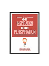 Genius And Inspiration Thomas Alva Edison Quote Framed Poster - Lab No. 4 - The Quotography Department