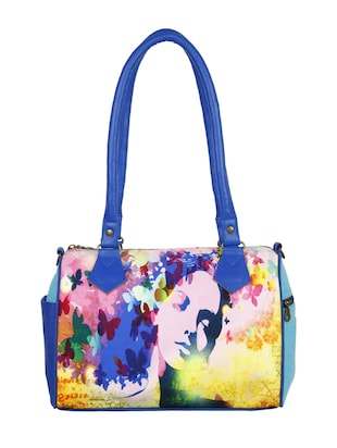 Multi-colored Canvas Handbag