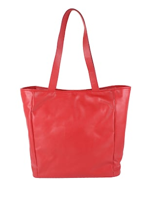 Pink Leatherette tote