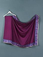 Plum Purple Kora Silk Saree - Designerz Hub