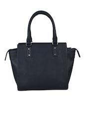 Dark Blue Imported Faux Leather Handbag - BEAU DESIGN
