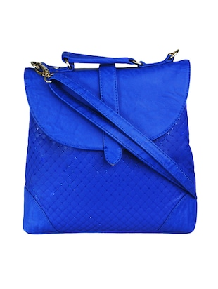 Royal Blue Faux Leather Handbag