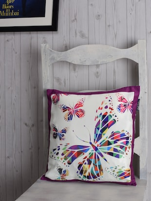 butterfly printed polyster cushion cover