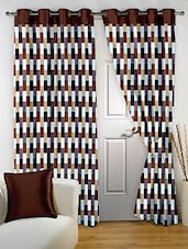 Story @ Home Brown Polyester Door Curtains - By