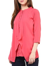 Pink Poly Georgette Top - By