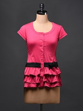 Round Neck Layered Frill TOP - Glam And Luxe