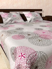 Sober Cotton Bed Sheet Pillow Cover Set - Onlinemaniya