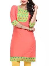 Orange Cotton Kurta - Mytri