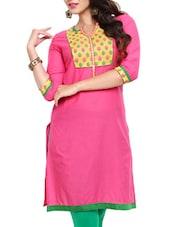 Pink Cotton Kurta - Mytri