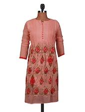 Embroidered Pink Georgette Anarkali Kurta - By