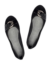 Adorable Black Suede Ballerina Flats - Bruno Manetti