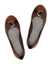 Adorable Chocolate Brown Suede Ballerina Flats - Bruno Manetti