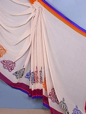 Chiffon Printed Multi Color Saree - Fabdeal