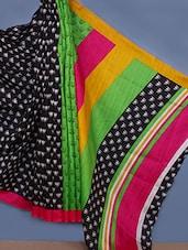 Cotton Silk Printed Saree - Fabdeal