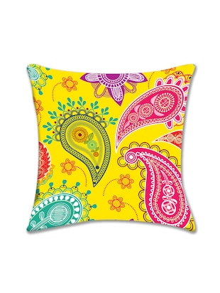 Cushion Pallete Paisley Digital Printed Cushion Cover (16x16)