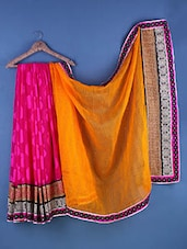 Multicolour Georgette Floral Embroidered Saree - Suchi Fashion