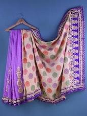 Multicolour Linen Zari Embroidered Saree - Suchi Fashion