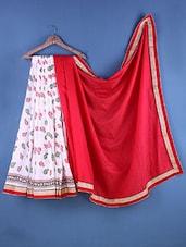 Multicolour Cotton Embroidered Saree - Suchi Fashion