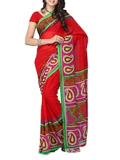 Multi Color Printed Georgette Saree - Ambaji