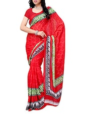 Casual Multi Color  Chiffon Printed Saree - Ambaji