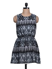 Aztec Printed Casual Dress - Trend 18
