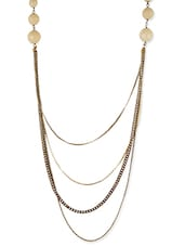 Ivory , Golden Resin, Metal Alloy Long  Necklace - By