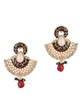 Pearl & American Diamond Studded Earrings - Luxor