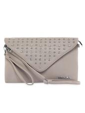 Grey Leatherette Sling Bag - KIARA