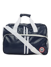 Navy Blue Striped Travel Bag - KIARA