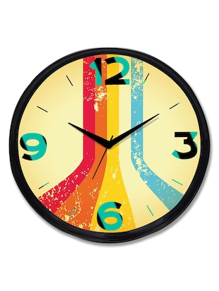 Cartoonpur Analog Round 11 Inch Viral Road Wall Clock with Glass