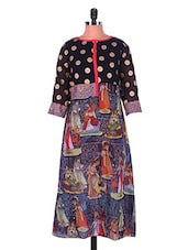 Multicoloured Digital Print Georgette Kurti - Admyrin