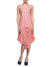 Asymmetric Round  Neck Printed Dress - London Off