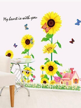 Decals Arts 3D 9001 Sun Flowers Wall Stickers