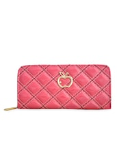 Quilted Peach PU Wallet - Lalana
