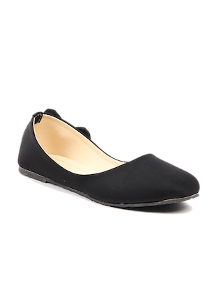 Black leatherette slip on ballerina
