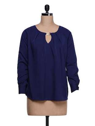 Blue Fulsleeve Top