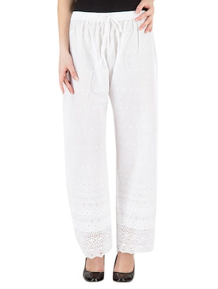 white cotton palazzos -  online shopping for Palazzos