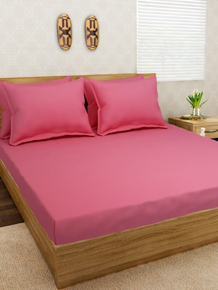 Jersey Dreams Pink Knit Fitted Bedsheet Set