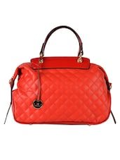 Red Quilted Handbag - Diana Korr