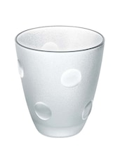 Transparent  Polka Dots Glass Tumbler - Borgonovo