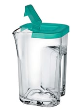 Delicate Transparent Jug With Green Lid - Borgonovo